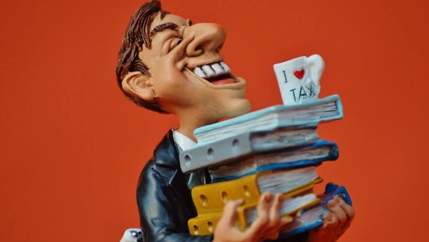 Happy tax preparer