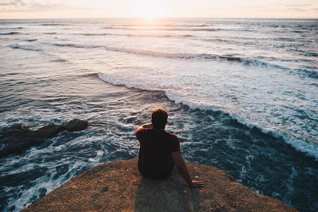Guy at beach