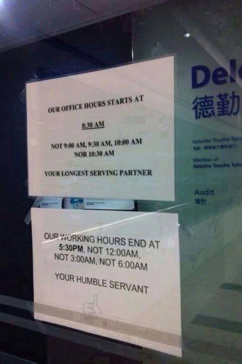 Deloitte office hours