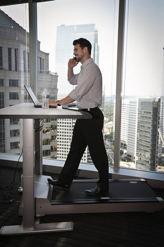 The Very Best Feature Of The New Office Is Obviously This Treadmill/standing  Desk Combo That Will Help You Work Off Those Busy Season Cheetos While ...