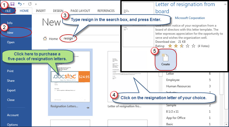 Hasten Your Departure With Pre-Written Microsoft Word Resignation